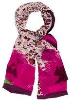 Diane von Furstenberg Silk Embroidered Scarf w/ Tags