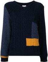 Coohem patchwork knit pullover