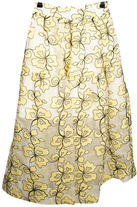 Maje Yellow Synthetic Skirts