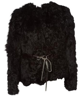 Saint Laurent Black Leather Coat for Women