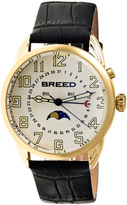 Breed Goldtone & White Alton Leather-Strap Watch