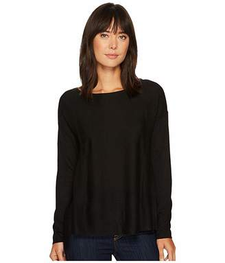 NYDJ Boat Neck Sweater w/ Split Back