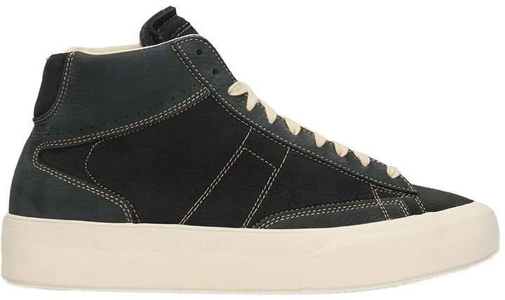 Maison Margiela Mid Patchwork Black/blue Leather Sneakers