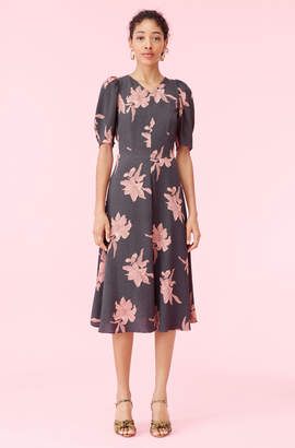 Rebecca Taylor La Vie Tiger Lily Crepe Dress