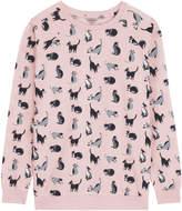 Cath Kidston Painted Cats Printed Lightweight Sweatshirt