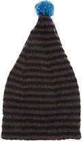 Grevi Men's Striped Wool-Blend Slouchy Hat