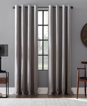 """Archaeo Linen Blend Blackout Grommet Top Curtain, 52"""" W x 84"""" L"""