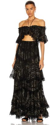 Rococo Sand Adina Long Dress in Black | FWRD