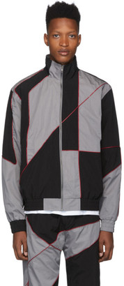 Liam Hodges Black Silicone Detail Track Jacket