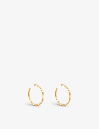 Selfridges Large chunky gold-plated vermeil silver hoops