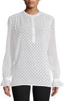 French Connection Corsica Sheer Patterned Blouse