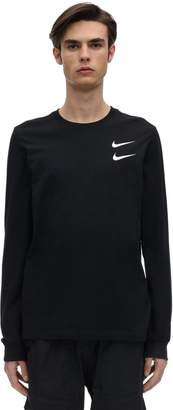 Nike Nsw Swoosh Cotton Ls T-Shirt