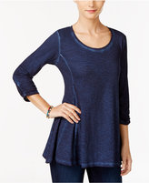 Style&Co. Style & Co. Burnout Knit Top, Only at Macy's