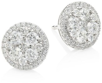 Brera Via 18K White Gold & Diamond Stud Earrings