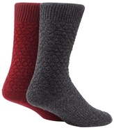 Mantaray Set Of Two Wool Blend Textured Boot Socks
