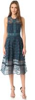 Jonathan Simkhai Mixed Embroidered Midi Dress