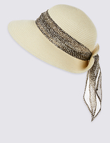M&S Collection Snake Print Scarf Trim Hat