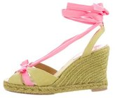 Christian Louboutin Woven Wedge Sandals