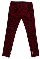Sandro Animal Print Skinny Jeans