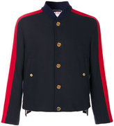 Thom Browne Cricket Seam Button-Front Jacket In Navy Melton