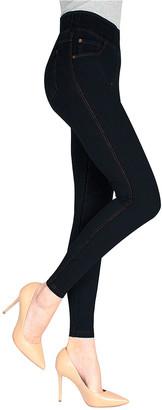 Me Moi MeMoi Women's Leggings Black - Black Jeggings - Women