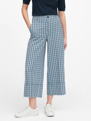 Banana Republic High-Rise Wide-Leg Cropped Pant
