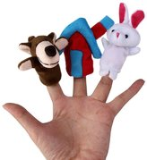 HaiHui Finger Puppet Set 3Pcs Hand Doll Rabbit Monkey House Role Play Baby Gift