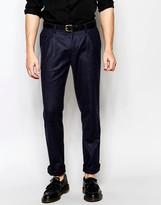 Sisley Tweed Suit Trousers In Slim Fit