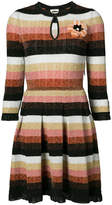 Fendi knitted dress with flower brooch