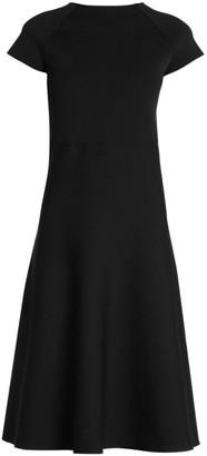 Giorgio Armani Compact Knit Cap Sleeve Dress