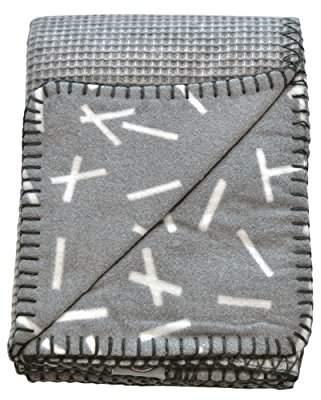 Lodger Honeycomb Fleece Baby Cot Blankets, Dark Grey, 75 x 100 cm