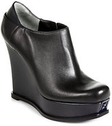 Fendi Fendista Leather Wedge Ankle Boots