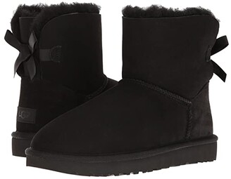 UGG Mini Bailey Bow II (Black) Women's Boots