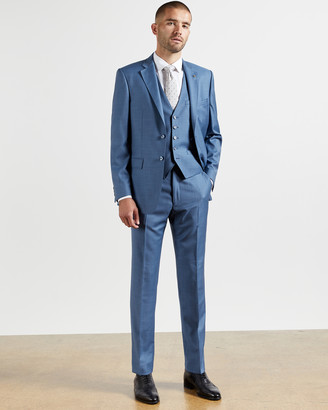 Ted Baker HECTORT Debonair sharkskin wool suit trousers