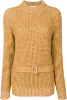 See by Chloe belted sweater - women - Cotton/Mohair/Wool - S