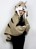 Saber Tooth Hooded Cape Costume