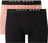 Hugo Boss Boss Plain Print Trunks, Pack Of 2, Orange/multi