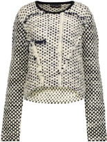 Rochas Fringed wool-bouclé sweater