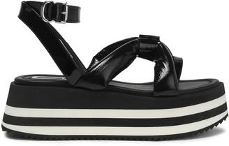 McQ Padded Patent-leather Platform Sandals