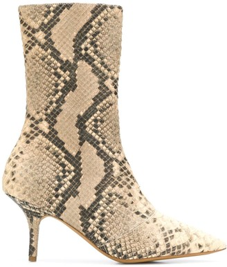 Yeezy Faux Snake Effect Boots
