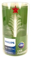 Philips Lit Fiber Optic White Tree with Star