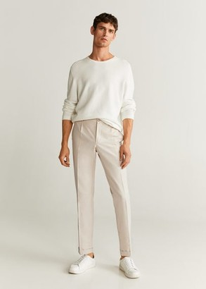 MANGO MAN - Slim-fit linen pants ecru - 28 - Men