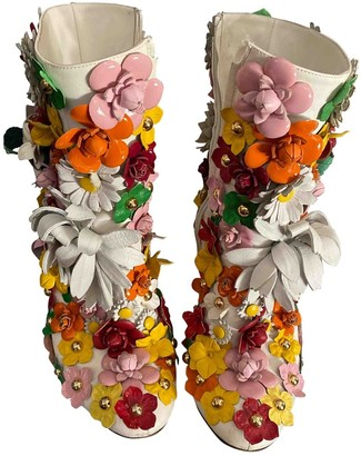 Dolce & Gabbana Multicolour Leather Ankle boots