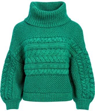 Alice + Olivia Francine chunky knit jumper