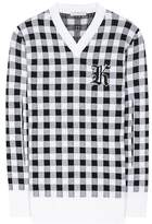 Christopher Kane Gingham wool, cashmere and virgin wool sweater