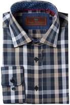 James Tattersall Classic Fit Long Sleeve Plaid Woven Shirt