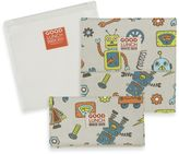 SugarBooger by o.r.e Good Lunch Set of 3 Snack Sack in Retro Robot