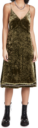 R 13 Back Tie Slip Dress with Hem Detail