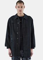 Blackyoto Men's Hiroto Officer Coat In Black