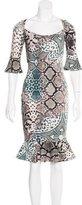 Class Roberto Cavalli Snakeskin Print Midi Dress